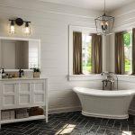 """36"""" Piedmont White Furniture Vanity w/ Mirror"""