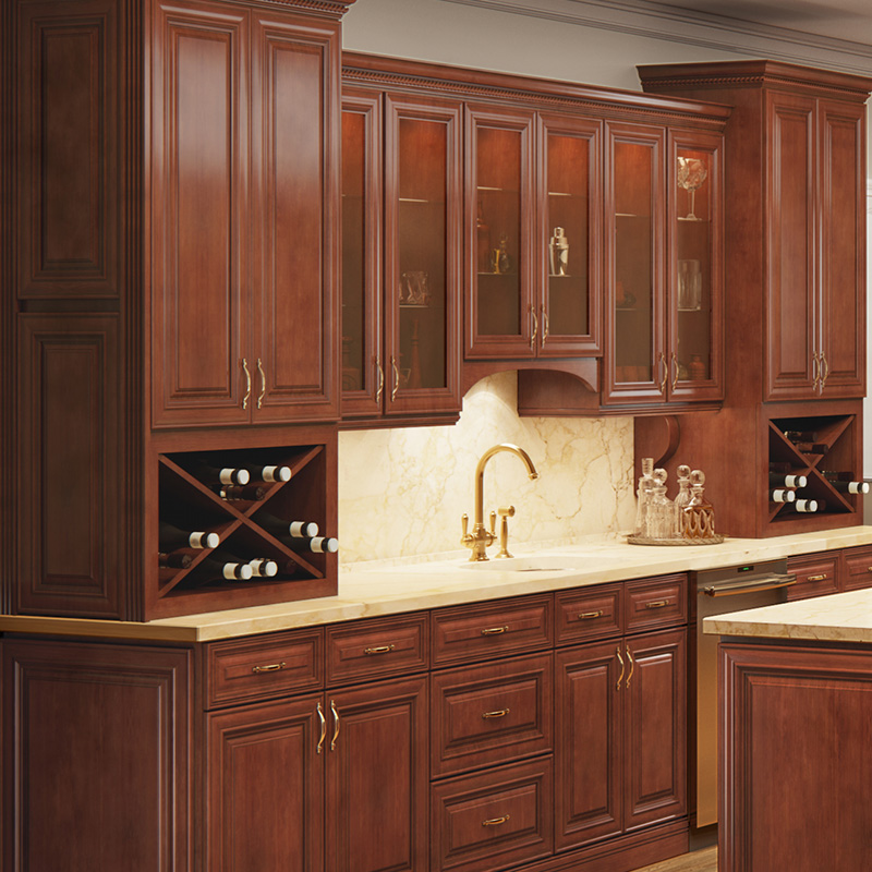 Exposed Wood Cabinets