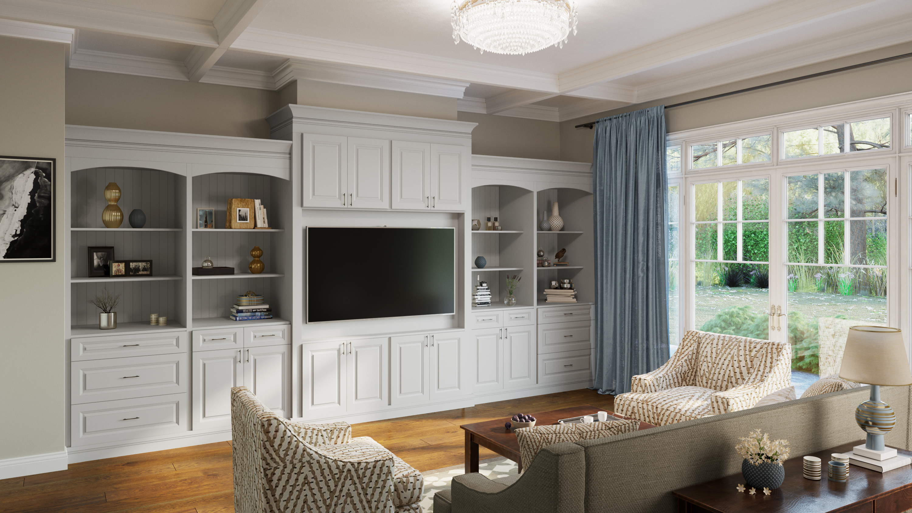 Tacoma Dusk Built-In Cabinets