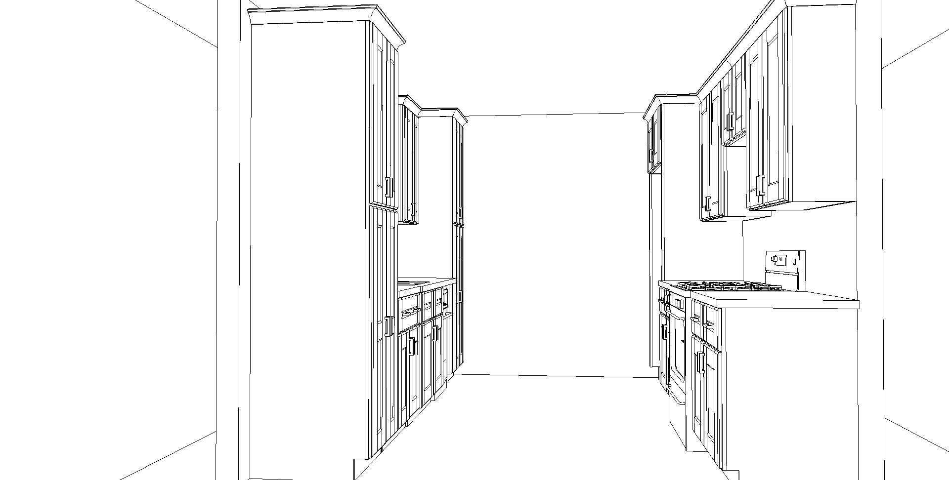 Galley Kitchen Outline CabinetCorp