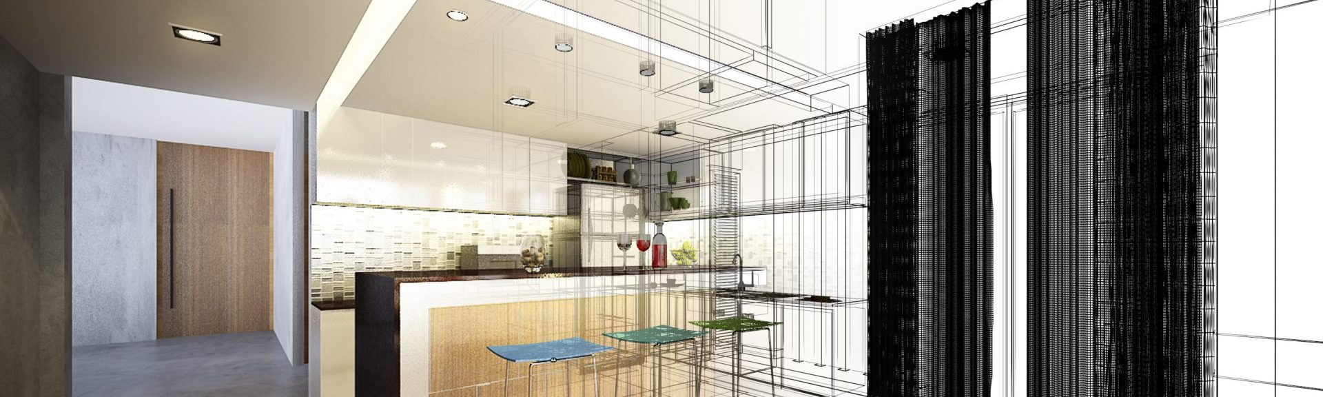 Kitchen Layout Abstract Outline CabinetCorp
