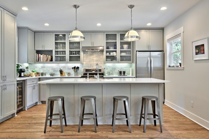 L Shaped Kitchen Table and Hearth