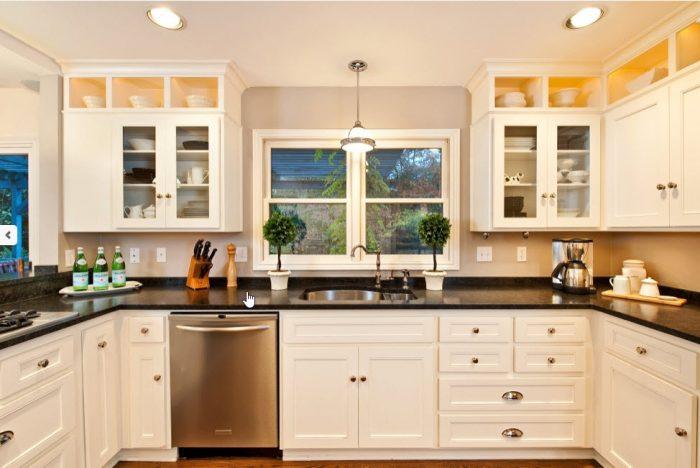 U Shaped Kitchen Creek Stone Designs